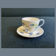 Adorable Shelley Miniature Harebell Teacup and Saucer 13590
