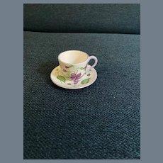 Adorable Shelley Miniature Campanula Teacup and Saucer 13886