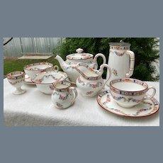 Antique Rare Minton Rose 8 pc Breakfast Tea Set A 4807