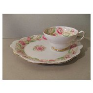 Cheerful Stanley 'Rosalind' Pink Roses Luncheon Teacup Set