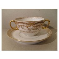 Early Theo Haviland Limoges French Bow Cream Soup