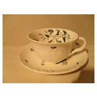 Wedgwood Williamsburg Wildflowers Teacup and Saucer