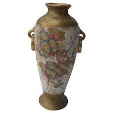 Antique Royal Bonn Floral and Gold Footed Vase 1880