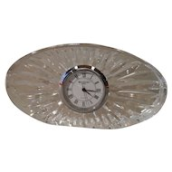 Traditional Waterford Ireland Cut Glass Oval Clock