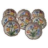 Vintage HP Italy Faience Individual Quiche/Fruit Bowls 8