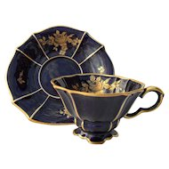 Lindner Kueps Germany Gilt Cobalt 163 Demitasse Cup