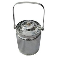 Simpson Hall Miller Quadruple Silverplate Biscuit Barrel