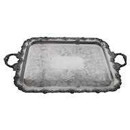 Vintage Barker Ellis England Silverplated Large Tray 31""