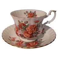 Royal Albert Centennial Rose Teacup and Saucer