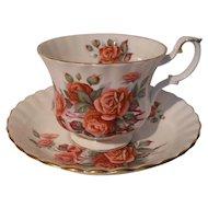 Royal Albert Centennial Rose Teacup and Saucer