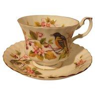 Royal Albert Woodland Baltimore Oriole Teacup/Saucer