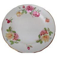 Beautiful Hammersley Morgan's Rose Pink and Yellow Rose Dinner Plate 10 3/4