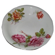 Beautiful Hammersley Morgan's Rose Pink and Yellow Rose Fruit Bowl