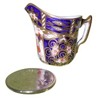 Antique Royal Crown Derby Imari 2451 Miniature Pitcher Creamer 1911