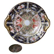 Vintage Royal Crown Derby Imari 2451 Miniature Cake Plate 1940
