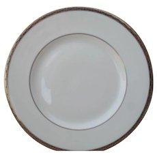 Minton St James Pale Blue Ovals on Cobalt/Gold Salad Plate