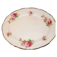Royal Albert American Beauty Deep Pink Roses Platter 15""