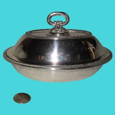 Sheffield Silverplate Hollowware Small Covered Dish