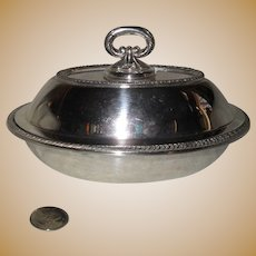 Sheffield Silverplate Hollowware Small Covered Dish