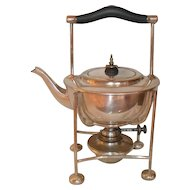 Antique William R. Shirtcliffe & Son Silver Plate Tea Kettle Stand & Burner