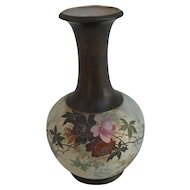 Antique Doulton Slater Burslem England Tapestry Rose Vase Artist Signed Betteley 1886