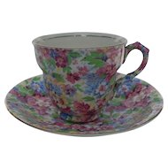 Vintage James Kent Apple Blossom Chintz Teacup and Saucer