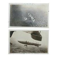 WWI Era Biplane and Dirigible U.S. Naval Air Station Pensacola, Florida Photographs