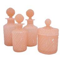 Vintage Portieux Vallerysthal PV France Dresser set Cologne Perfume Set
