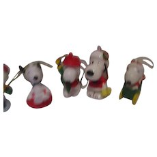 Vintage Snoopy Christmas Ornaments