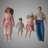 Vintage Family Of Dolls For Your Doll House.