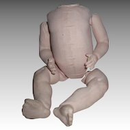 Antique German Papermache Baby Doll Body