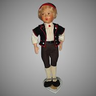 Vintage Baltz Whistling Boy Doll
