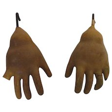 Antique Composition Doll Hands