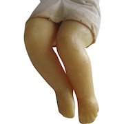 Antique Wax Doll Legs With Cloth Body