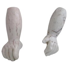 Antique Bisque Doll Hands