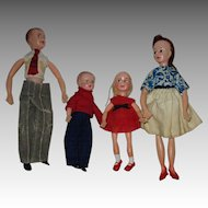 Vintage Doll House Family Dolls