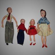Vintage Doll House Family Dolls