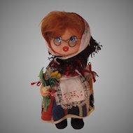 Vintage Layna Felt Doll