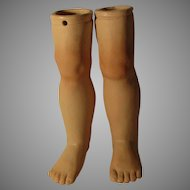 Vintage Bisque Doll Legs