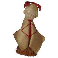 Vintage Celluloid Brush Doll