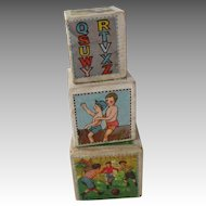 Vintage Children Block Boxes