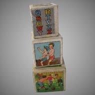 Vintage Children Block Boxes