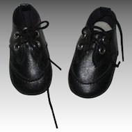 Vintage Black Doll Shoes