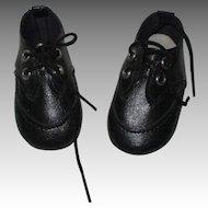 Vintage Black Doll Shoes