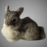 Vintage Flax Fur Easter Rabbit
