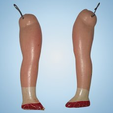 Vintage pair of composition doll legs