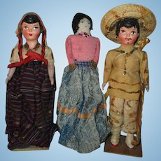 Vintage Dolls in Regional Outfit