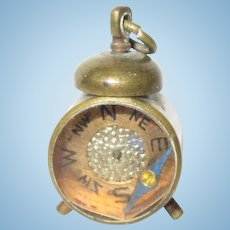 Vintage Clock and Compass For Your Doll House.