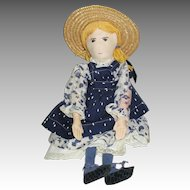 Vintage Handmade A.Sadie Cloth Amy Doll
