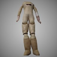 Antique Leather and Bisque Doll Body